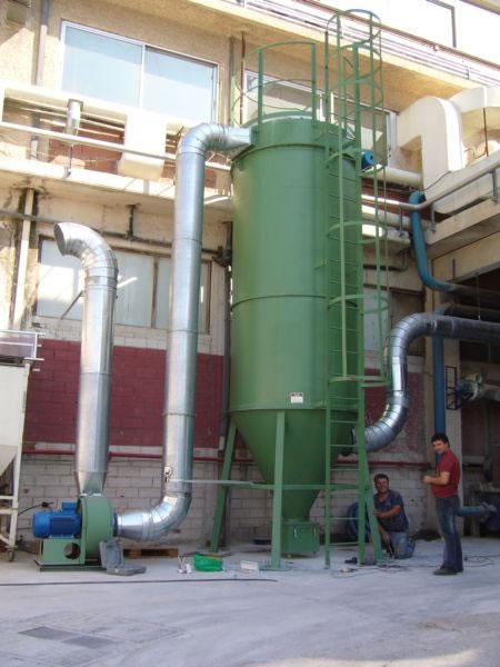Dedusting filetr in a Pharma industrie