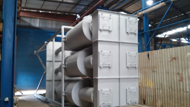 Multi cyclone 35.000 m3/h for a biomass fired boiler