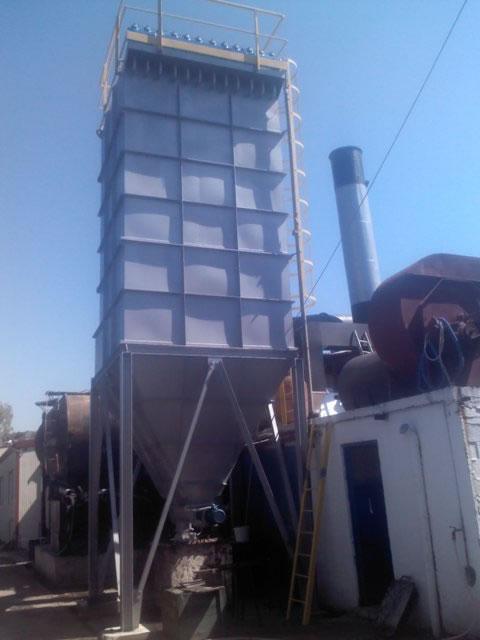 Dedusting a biomass fired boiler