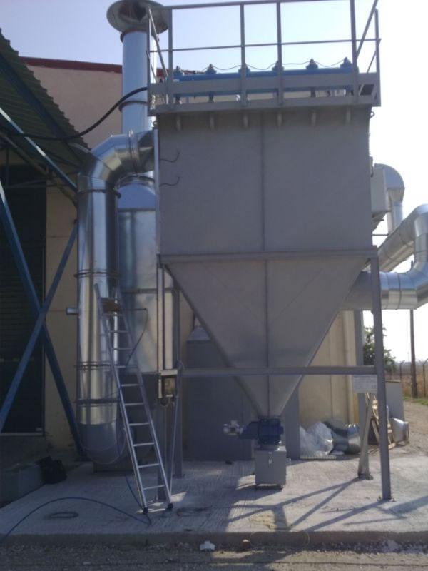 Cartridge filter 400 m2 for dedusting smelting lead furnaces