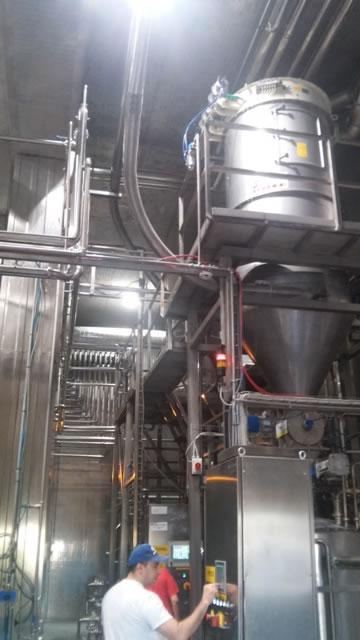 Αερομεταφορά ζάχαρης δυναμικότητας 10 t/h  στο εργοστάσιο coca cola