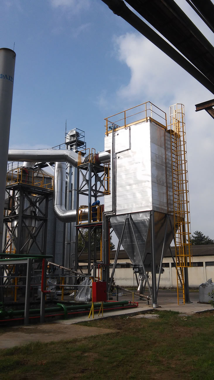 Αντιεκρηκτικό φίλτρο ATEX ZONE 21 επιφάνειας 350 μ² αποκονίωσης λέβητα βιομάζας