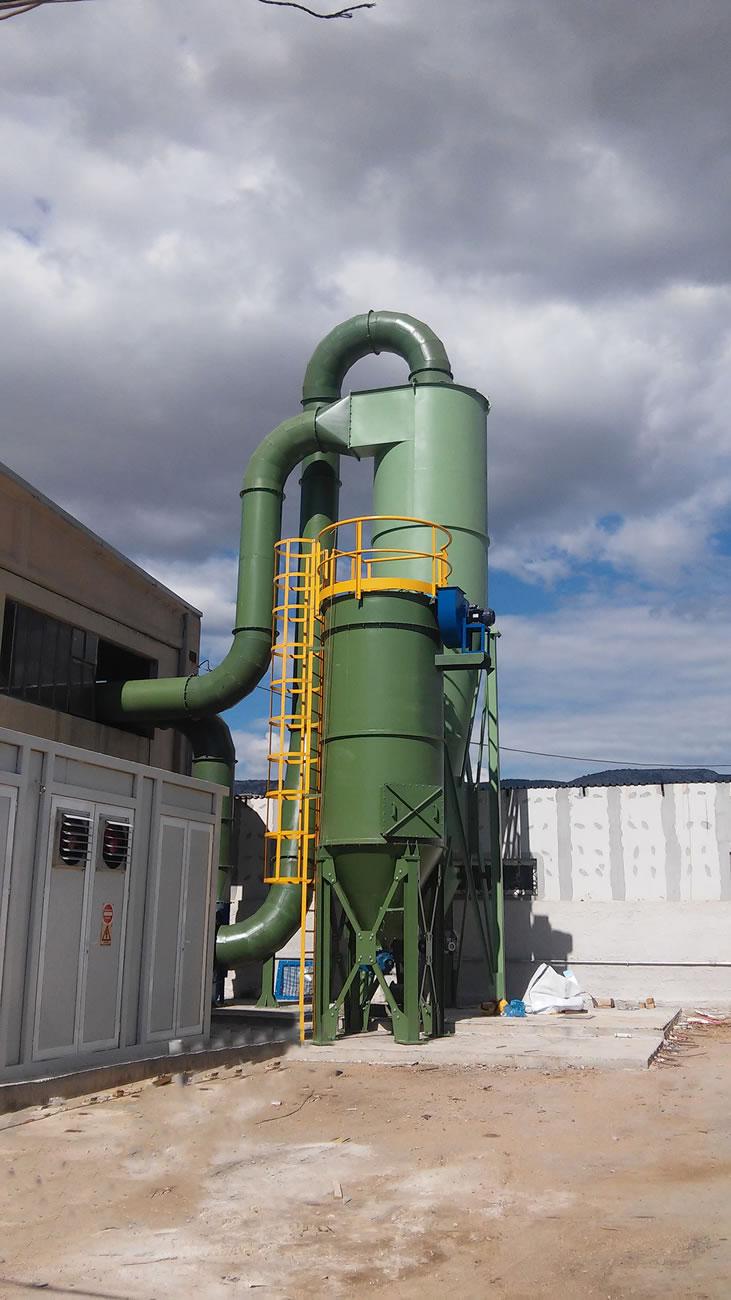 Αντιεκρηκτικό φίλτρο ΑΤΕΧ ΖΟΝΕ 21 επιφάνειας 60 μ² αποκονίωσης εργοστασίου ανακύκλωσης  οχημάτων