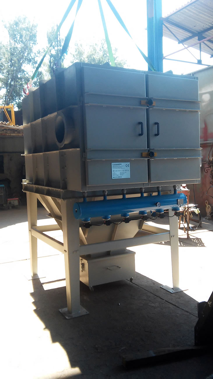 Dedusting filter 35 m2 with pocket type filter bags