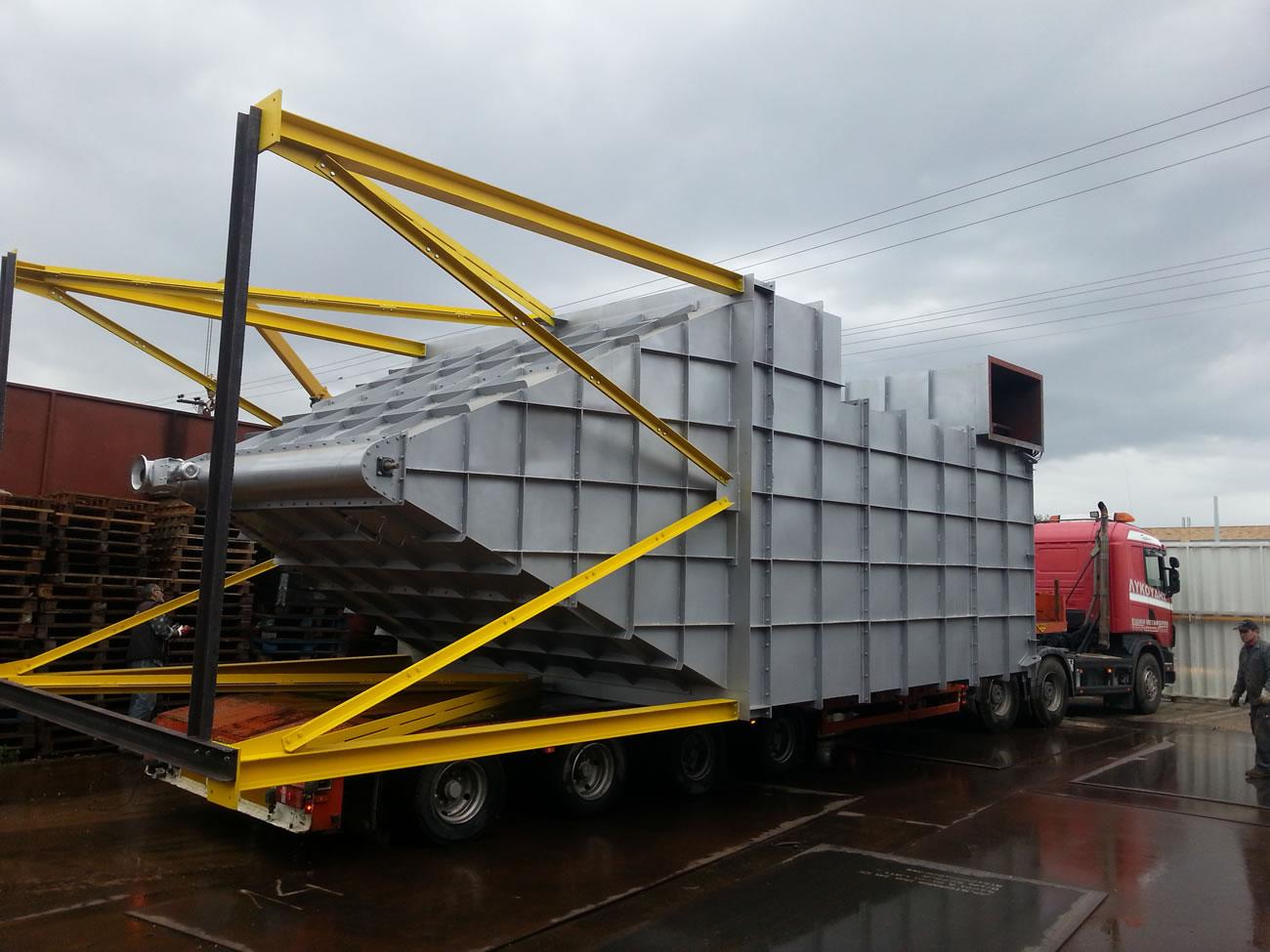 Μεταφορά φίλτρου 550 μ² αποκονίωσης λέβητα βιομάζας