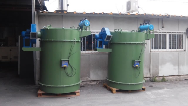 Silo filters with fan