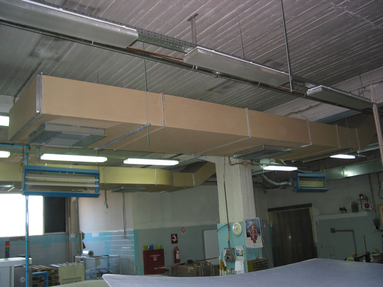 Airconditioning system in a chocolate production factory