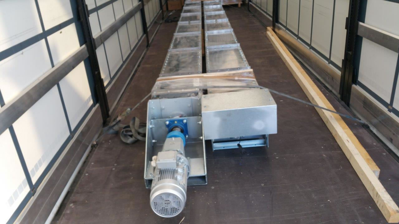 Ανοξείδωτοι μεταφορικοί κοχλίες μήκους 10 m για εγκατάσταση βιολογικού καθαρισμού