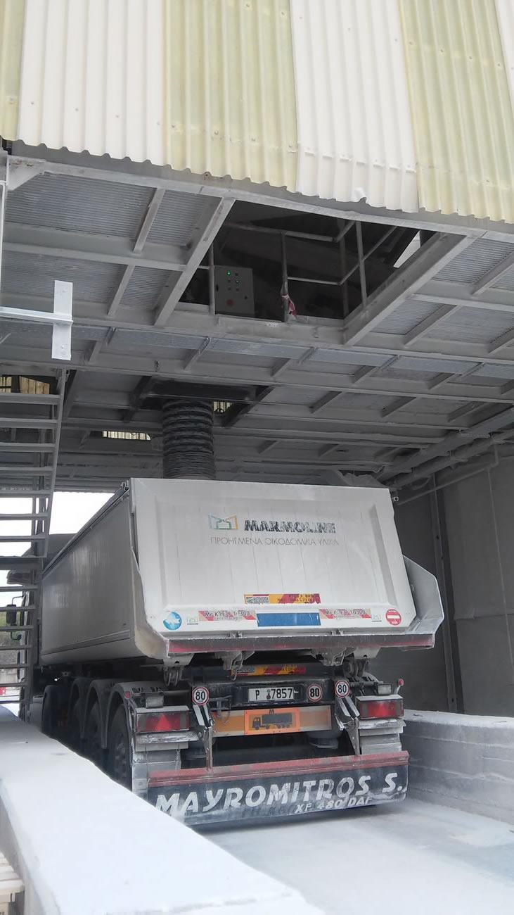 Φυσούνα φόρτωσης ανοικτών φορτηγών